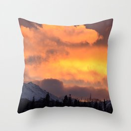 Sunrise Behind Chugach Mts ~ II Throw Pillow