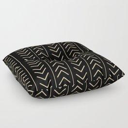 Mudcloth Black Floor Pillow