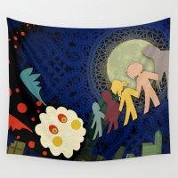 madoka magica Wall Tapestries featuring Paper Magica by Viga Victoria Gadson