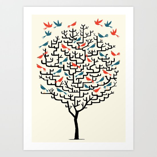 Out On a Lark Art Print
