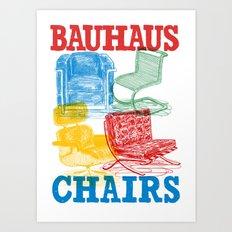 Bauhaus Chairs Art Print