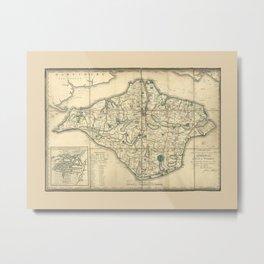 Map Of Isle Of Wight 1802 Metal Print