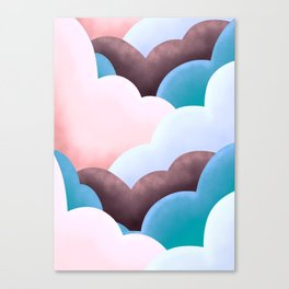 Marshmallow clouds  Canvas Print
