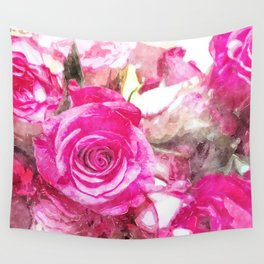 Bunch of Pink roses (watercolour) Wall Tapestry