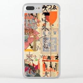 Hokkaido Mashup Clear iPhone Case