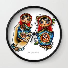 Matryoshkas Flash Wall Clock