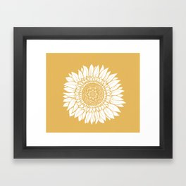 Yellow Sunflower Drawing Framed Art Print