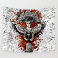 phoenix Wall Tapestries featuring Phoenix by Diogo Verissimo