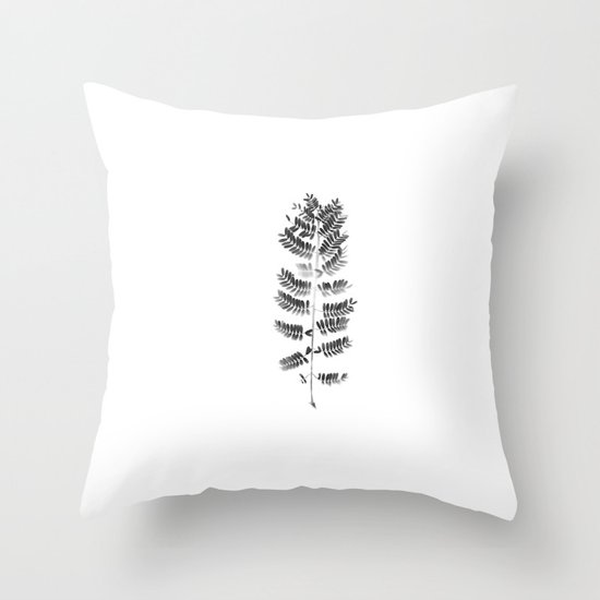 Scanned Nature Throw Pillow