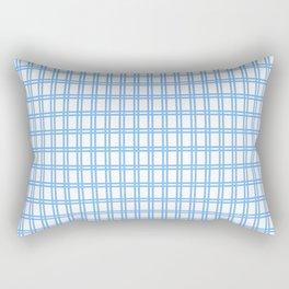Quadri blue Rectangular Pillow