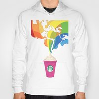 starbucks Hoodies featuring Starbucks Pop Art by Tiffany Taimoorazy