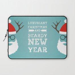 Luxuriant Christmas and Beardy New Year Laptop Sleeve