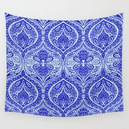 Simple Ogee Blue Wall Tapestry