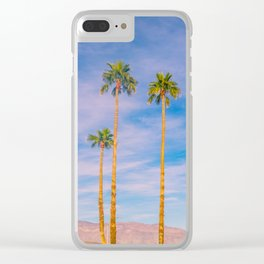 Palm Trees, Palm Tree, Desert, California, Summer, Landscape Photography, West Coast, Cali, Beach Clear iPhone Case