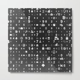 Information technologies Metal Print
