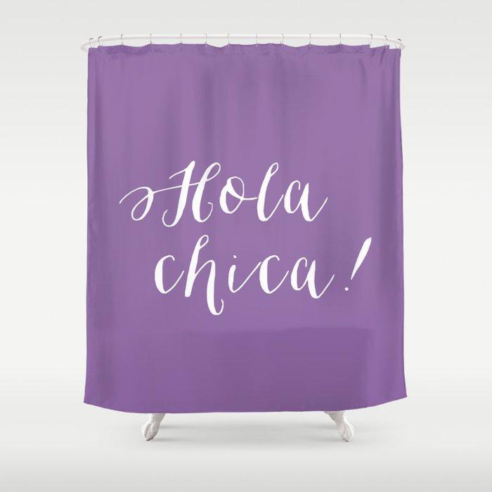 Purple Shower Curtain By Isleofdesign