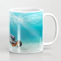 diver Mugs featuring S.C.U.B.A. Diver by MacDonald Creative Studios