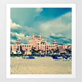 Castle in the Pink Art Print