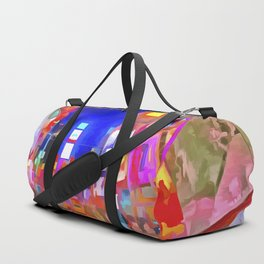 Times Square New York Pop Art Duffle Bag