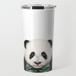 Baby Panda With Bow Tie, Baby Animals Art Print By Synplus Travel Mug