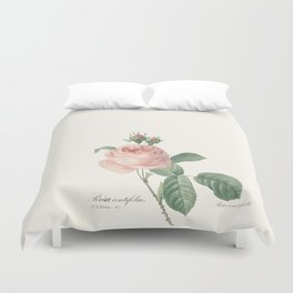 Botanical Book Plates - The Rose Duvet Cover