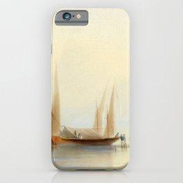 Ivan Aivazovsky - Barge at Sea Shore iPhone Case