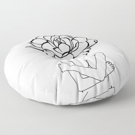 Rose lady #1 Floor Pillow