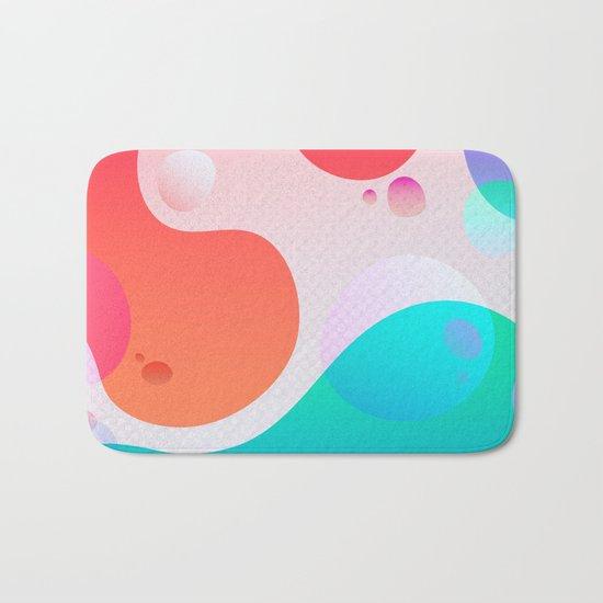 Abstract Waves Bath Mat