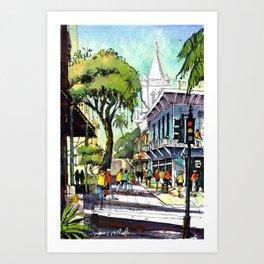 Duval Street, Key West Art Print