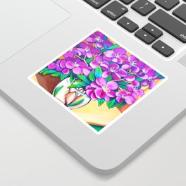Tibouchina Sticker