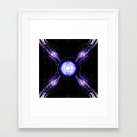 ouija Framed Art Prints featuring Ouija by Violet Vibrance