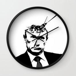 """Vlad """"Poutine"""" - Putin Pun Portrait Wall Clock"""