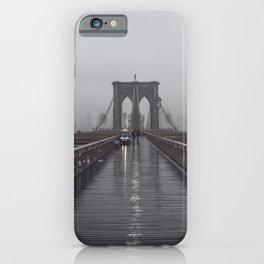 Brooklyn Bridge Fog iPhone Case