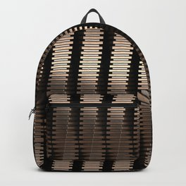 Spinning Columns - Bright Copper - Futuristic Industrial Sci-Fi Pattern Backpack