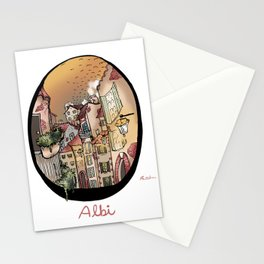 Streets in Albi Stationery Cards