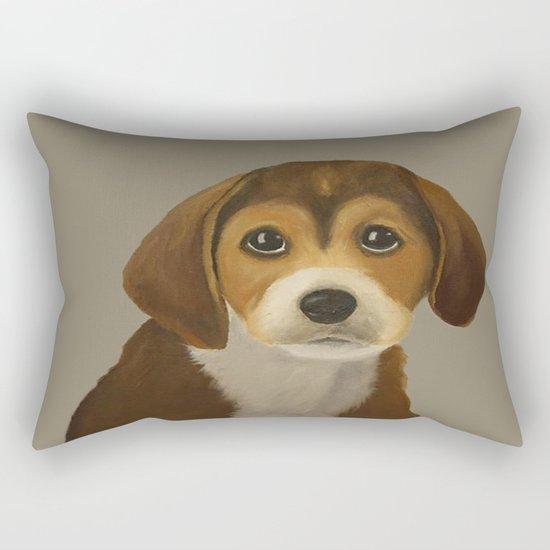 Cute Doggy Painting Rectangular Pillow