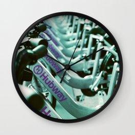 Hubway Bikes in Boston Wall Clock