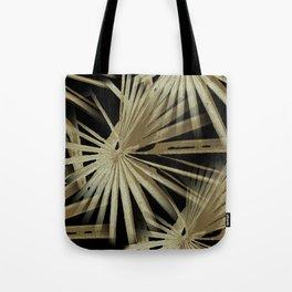 Brown On Black Tropical Vibes Beach Palmtree Vector Tote Bag
