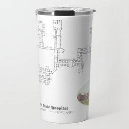 Hudson River State Hospital Blueprint Print Travel Mug