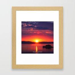Last Light of the Day - Molde, Norway Framed Art Print