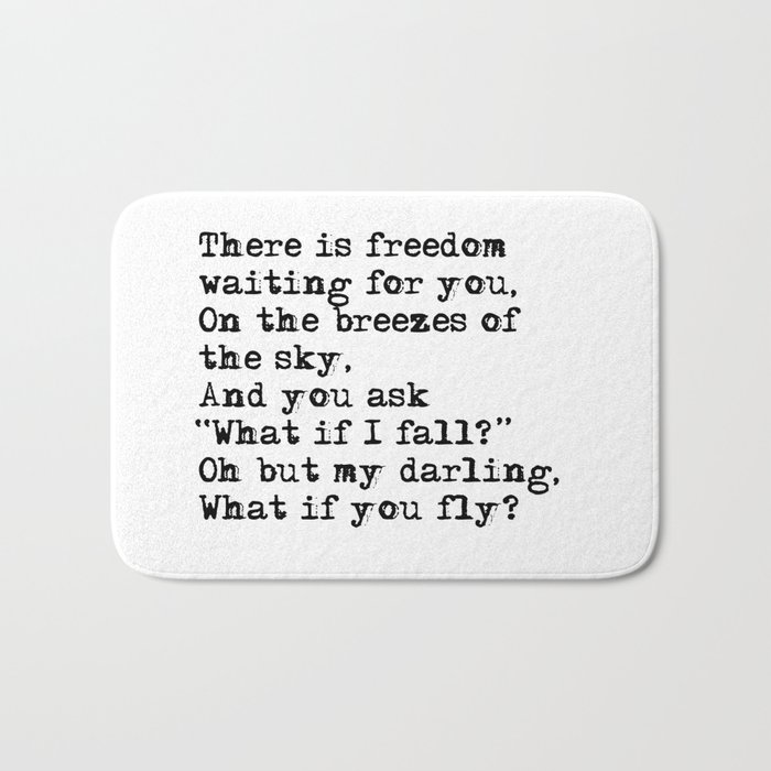 What if you fly? Vintage typewritten Bath Mat