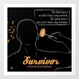 Survivor, a book by Chuck Palahniuk Art Print