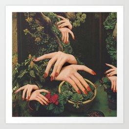 Touch Plants Art Print