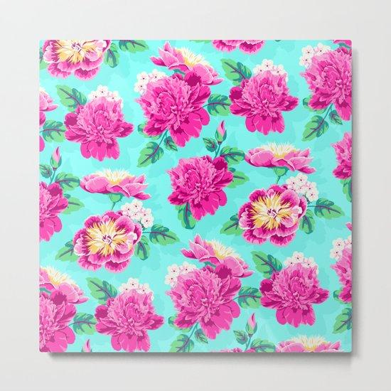 Bright Flowers Pretty Peonies Metal Print