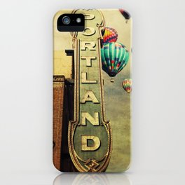 Whimsical Portland Oregon (Hot Air Balloon Ride) iPhone Case