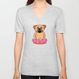 Bulldog Meditating Unisex V-Neck