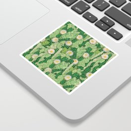 Cacti Camouflage, Green and White Sticker
