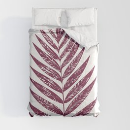 Simple Botanical Design in Dark Plum Comforters