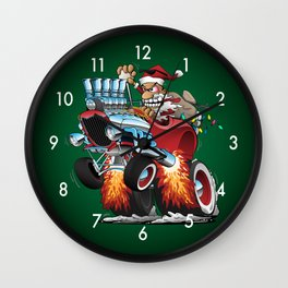 Hot Rod Santa Wall Clock