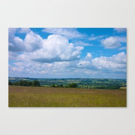 Looking across the Cotswolds, England Canvas Print